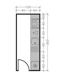 plan de cuisine en ligne plan de cuisine en longueur idée de modèle de cuisine