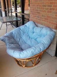 furniture fuzzy brown and white papasan cushion ikea for home