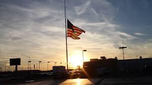 Flag Half Mass Today Usa Flag At Half Staff With Sunset Stock Video Footage Videoblocks