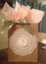 door prize gift bags for a vintage baby shower dollar tree gift