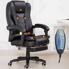 Armchair With Footrest Home Office Computer Desk Massage Chair With Footrest Reclining