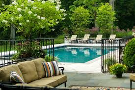 new york iron fence designs pool traditional with outdoor living