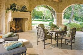 Italian Patio Design Tuscan Style Formal Living Room With Fireplace Living Room