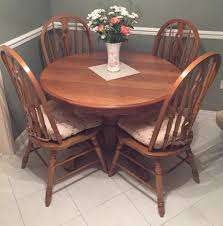 Oval Oak Dining Table Medium Oak 5ft Circle Dining Table 6 Chairs Table Extendable To