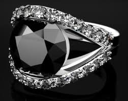 white and black diamond engagement rings black diamond engagement ring etsy