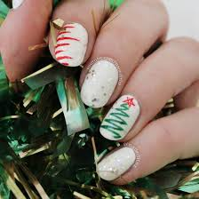 christmas nail art tree lights sweater candy canes u0026 snowflakes