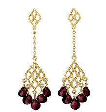 dangling earrings garnet the gemstone garnet information and pictures