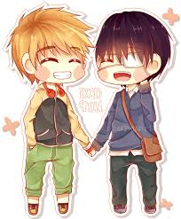 chibi kaneki x hide chibi by rizun27 on deviantart