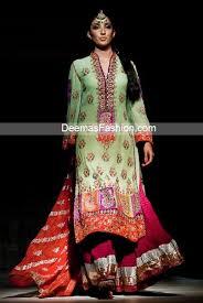 latest pakistani bridal wear multi color sharara latest