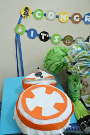 wars baby shower decorations bb 8 cake tutorial desert chica