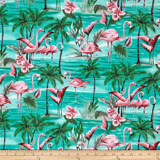 Tropical Home Decor Fabric Hoffman Tropical Collection Flamingo Aqua From Fabricdotcom From