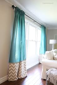 Modern Pattern Curtains Curtains 1693 House Beautiful Olasky Turquoise Print Curtains
