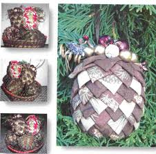 pinecone ornaments folded fabrics by sew many creations