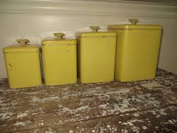 yellow kitchen canisters vintage canisters yellow canister set retro kitchen canisters