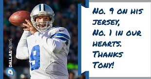 dallas cowboys tony romo gives emotional goodbye to cowboys fans