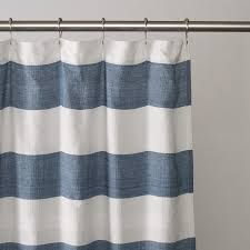 Nautical Curtain Ideas Ideas Navy Blue White Striped Shower Curtain U Design Pict Of