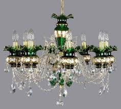 Czech Crystal Chandeliers Enamel Crystal Chandelier L167ce Green Artcrystal Borivoj Tomes
