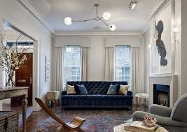 tufted velvet sofa contemporary living room jennifer eisenstadt
