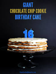 giant chocolate chip cookie cake home cooking memories