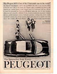 peugeot dealers peugeot of america ads 1958 u201361 fonts in use