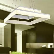 Led Pendant Lighting For Kitchen by Square Shaped Led Kitchen Pendant Lights
