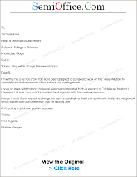 how to write an acknowledgement for a thesis letter to change the research topic semioffice com letter to change the research topic