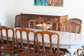 dining table transformation with french linen chalk paint