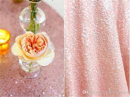 pale pink table cover round 132 inch round fashion ribbon embroidery sequin fabric