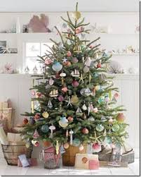 simple and beautiful tree with decorations rustic