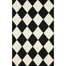 Harlequin Rug Black And White Checkerboard Rug Rug Designs