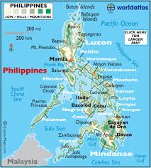 philippines map geography of philippines map of philippines