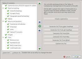 How To Do A Table Of Contents Editing E Books U2014 Calibre 3 12 0 Documentation