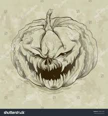 evil halloween background vector illustration evil pumpkin on grunge stock vector 309021389