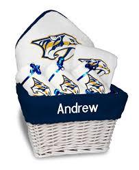 nashville gift baskets personalized nashville predators medium gift basket mlb baby gift