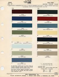 1968 ford mustang color chart with paint mixing codes maine mustang