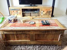 Wooden Pallet Coffee Table Pallet Coffee Table With Matching Tv Cabinet Wooden Pallet Furniture