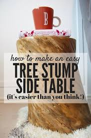 Wood Stump Coffee Table Diy Tree Stump Side Table Love U0026 Renovations