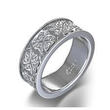 celtic wedding knot ceremony heart knot celtic wedding ring in 14k white gold