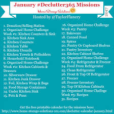 january declutter calendar 15 minute daily missions for month