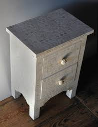 bone inlay side table from india shop nectar