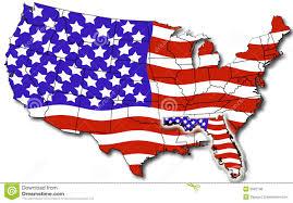 Flags Of Florida Karte Von Florida Usa Stock Abbildung Illustration Von Florida