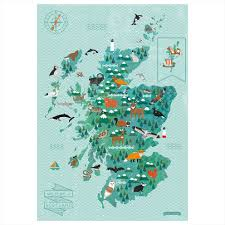 Animal World Map by