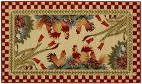 Rooster Runner Rug Anti Bacterial Rubber Back Home And Kitchen Rugs Non