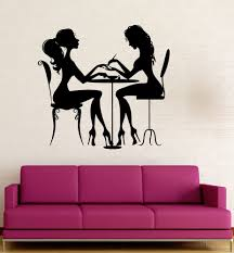 Wall Nails by Vinyl Decal Beauty Salon Nail Manicure Hair Spa For Woman Wall