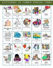 pictionary of common phrasal verbs set 1