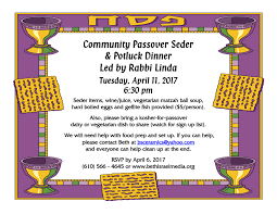 passover seder supplies community passover seder 2nd congregation beth israel of