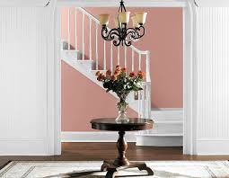 living with color hallways sherwin williams resounding rose 6318