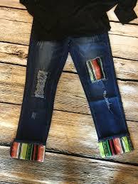 serape boyfriend jeans size 4 thru plus size 24 comfort style