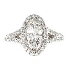 marquise halo engagement ring suchy 99 carat marquise halo platinum engagement