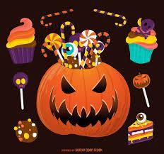 halloween candy pumpkin illustration vector download